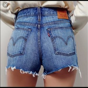 Levi's High Rise Wedgie Denim Shorts
